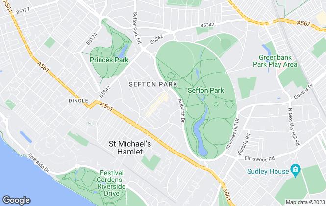 Map for McCloud May & Burnham, Liverpool