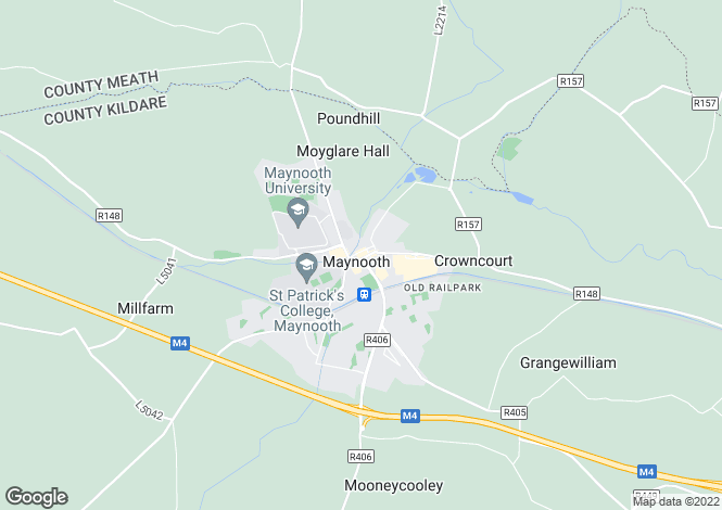 Map for Maynooth, Kildare