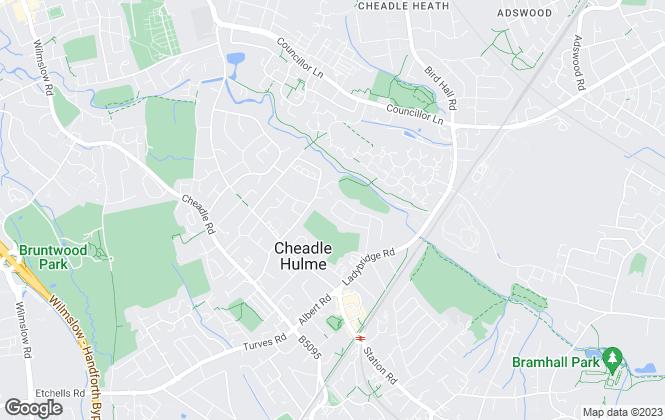 Map for Bridgfords, Cheadle Hulme
