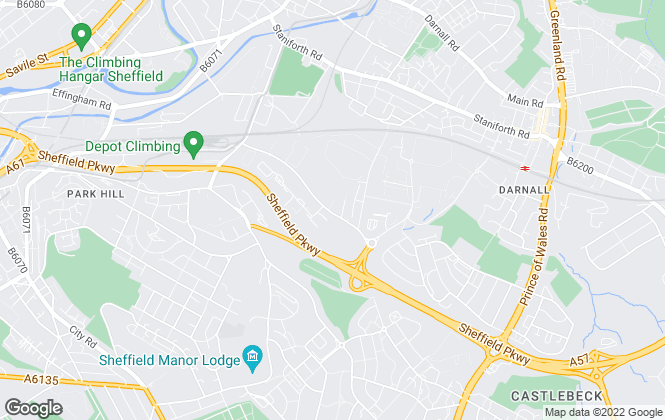 Map for Armadillo Self Storage, Armadillo Sheffield Parkway