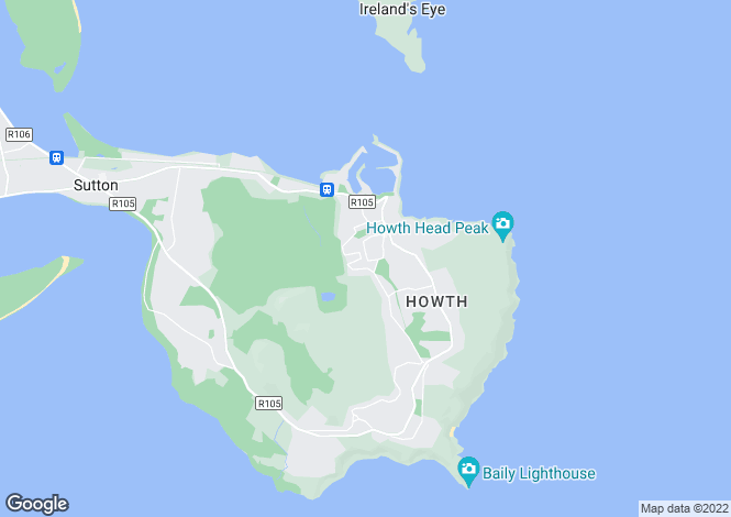 Map for 65 St Peters Terrace, Howth, Co Dublin