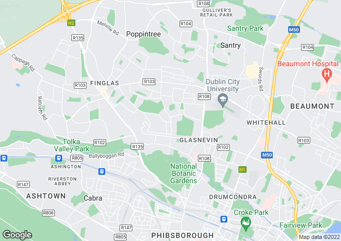 Map for Glasneven, Dublin