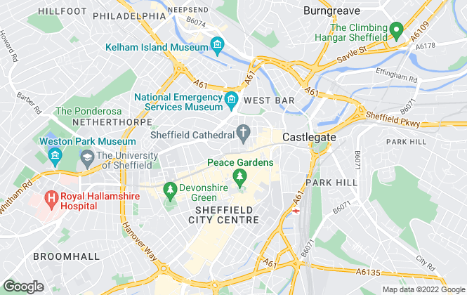 Map for Fowler Sandford LLP, Sheffield