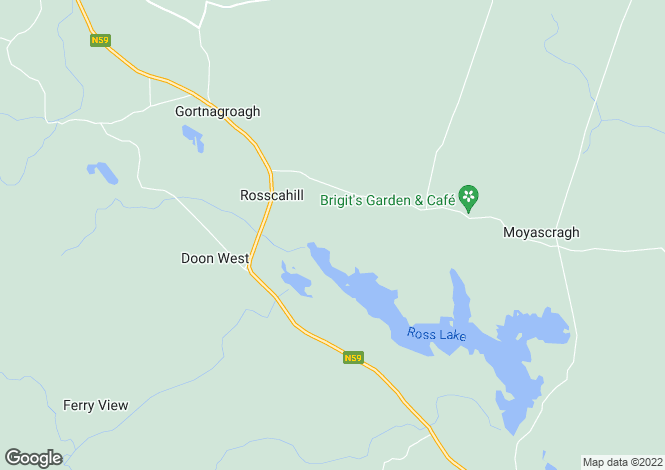 Map for Rosscahill, Galway