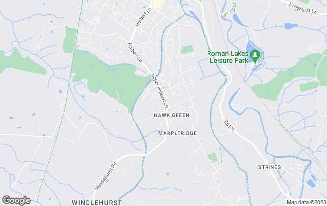 Map for Eaglegate, Stockport