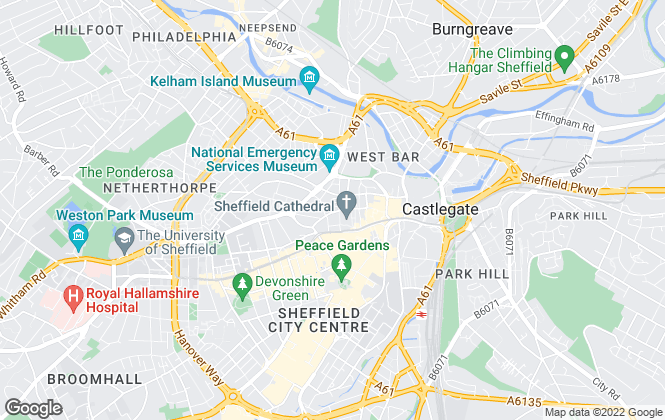 Map for Belvoir! Lettings, Sheffield