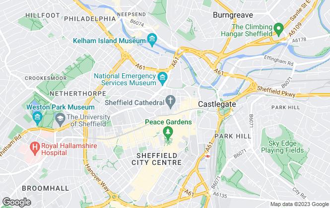 Map for Belvoir, Sheffield