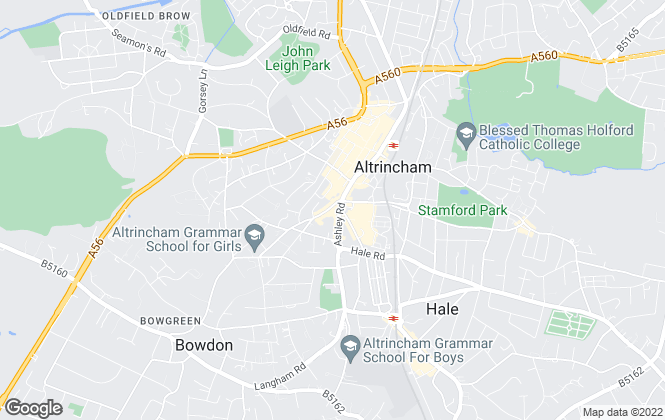 Map for Empanda Properties, Altrincham