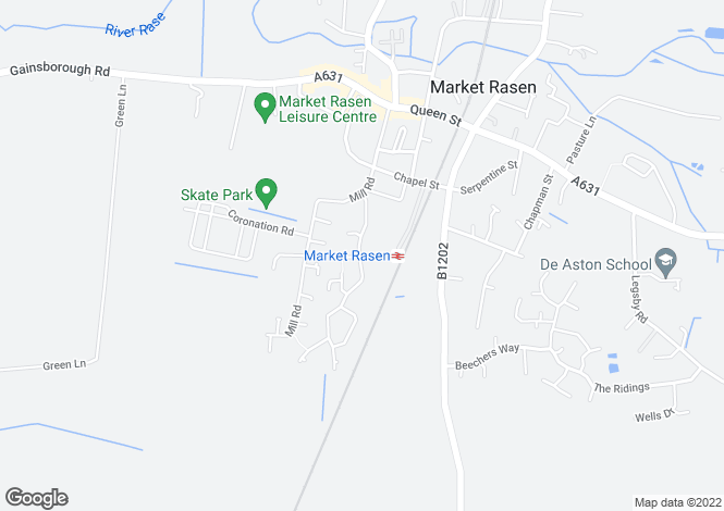 Map for Market Rasen