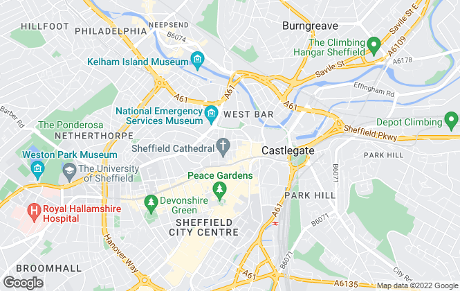 Map for Lewis Wadsworth, Sheffield