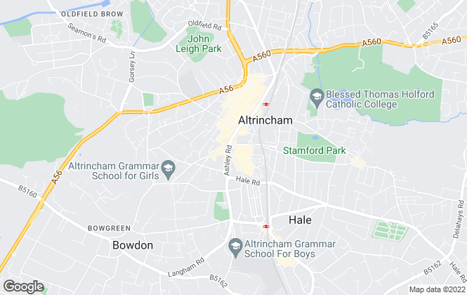Map for Thornley Groves, Altrincham