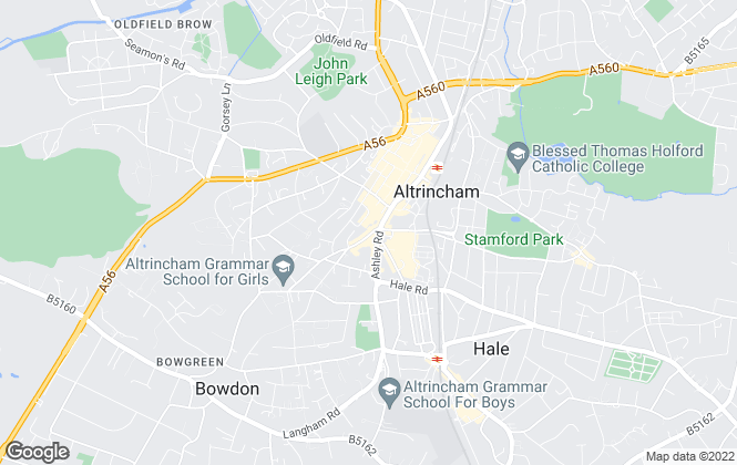 Map for Gascoigne Halman, Altrincham