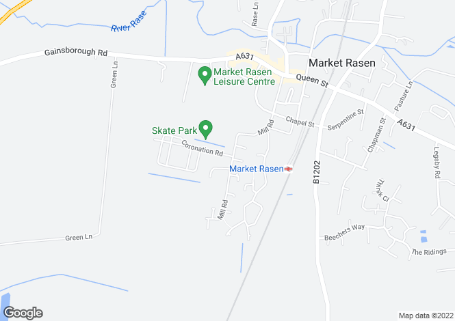 Map for Mill Road, Market Rasen