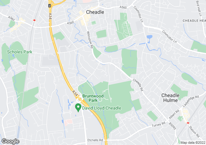 Map for Bluebell Grove, Cheadle SK8