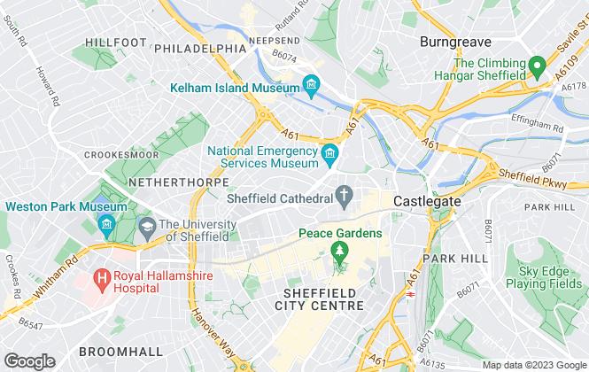 Map for Add Living Ltd, Sheffield