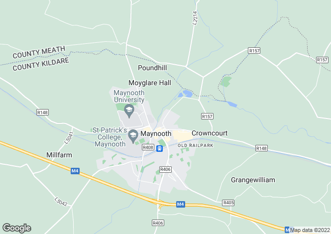 Map for 3 Bed Homes, Lyreen Lodge, Dunboyne Road, Maynooth, Co Kildare