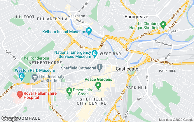 Map for Phoenix Lettings, Sheffield