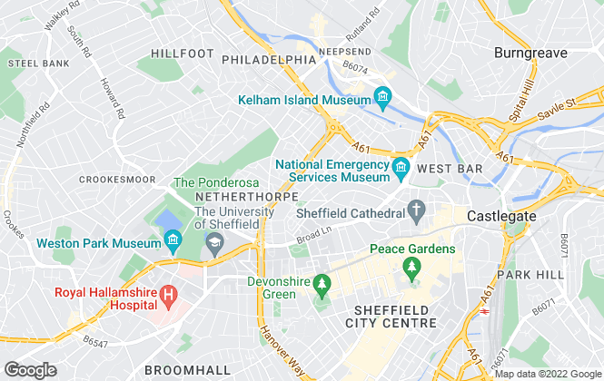 Map for Q4 Apartments, Sheffield