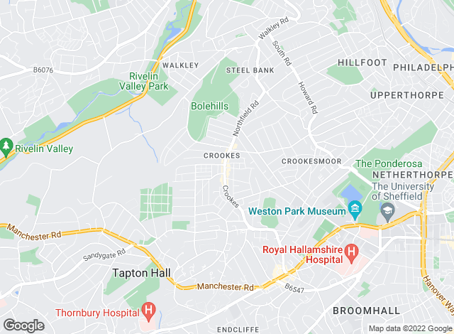 Map for Property Partners, Sheffield