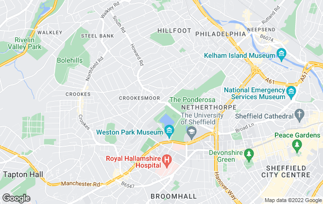 Map for Thornsett Properties , Sheffield