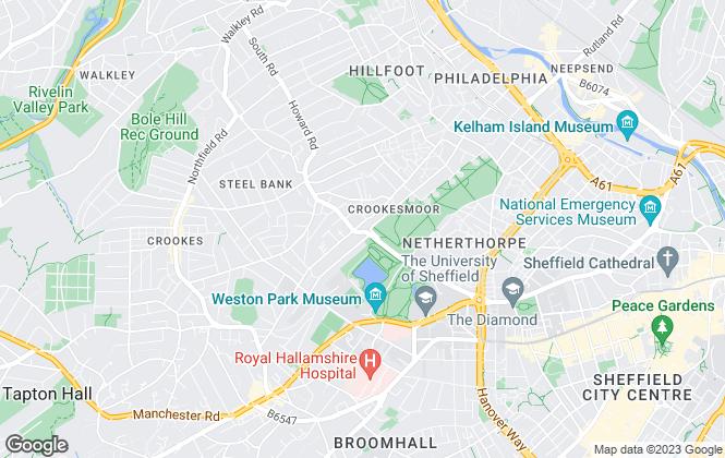 Map for Thornsett Properties , Sheffield