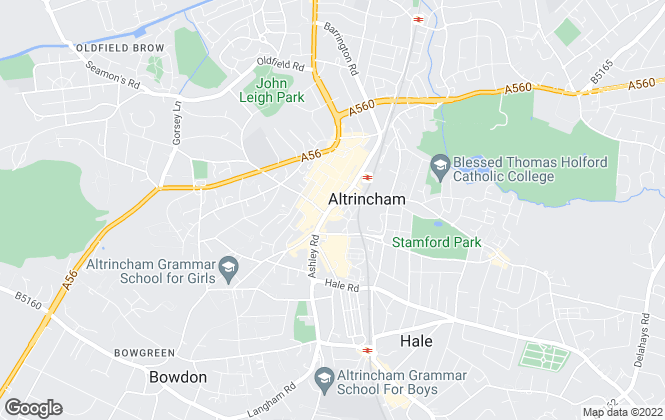 Map for Jackson Maunders, Sale and Altrincham