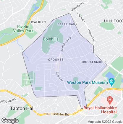 Map of property in Crookes
