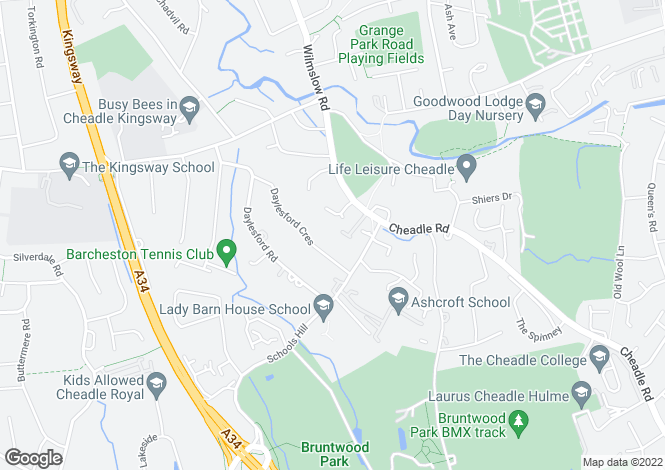 Map for Bridge Drive, Cheadle