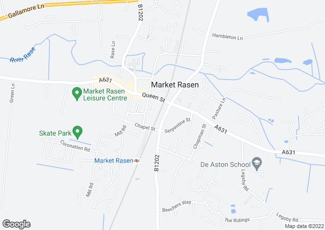 Map for Oxford Street, Market Rasen