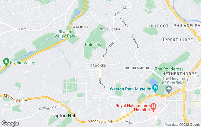 Map for Saxton Mee, North West Sheffield - Resale