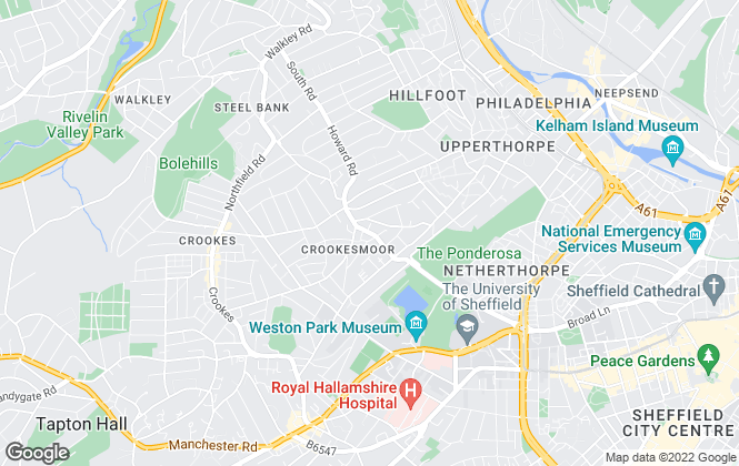 Map for M3 Lettings, Sheffield