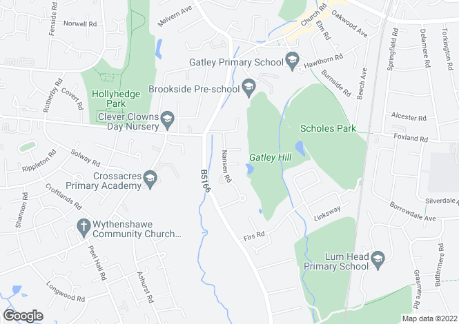 Map for NANSEN ROAD, GATLEY, CHEADLE