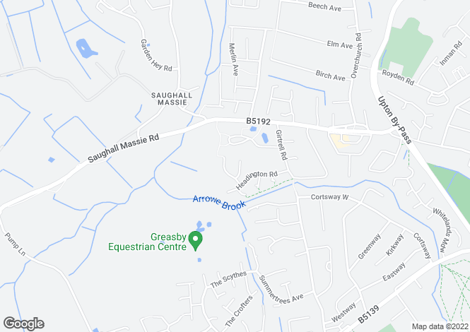 Map for Binsey Close, Saughall Massie