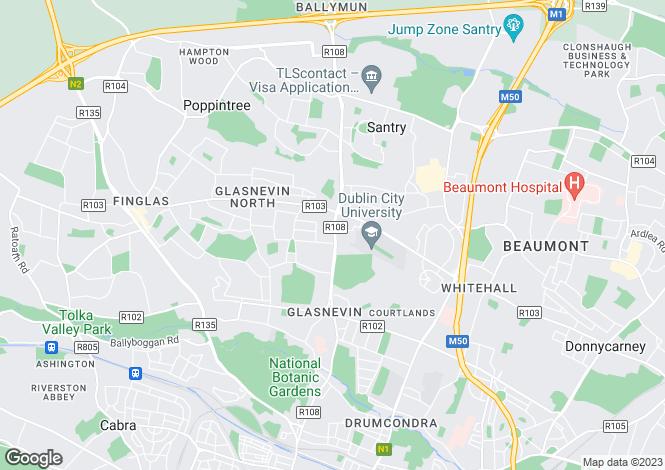 Map for 143 Ballymun Road, Glasnevin, Dublin 9