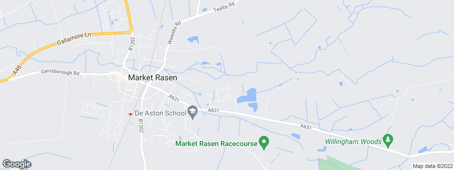 Map for De Aston Park development by Linden Homes North