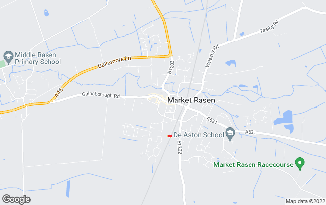 Map for Walters Estate Agents, Market Rasen