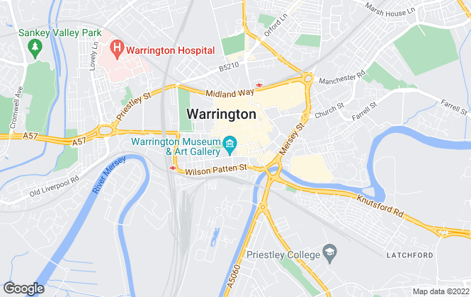Map for rent2gohomes, Warrington