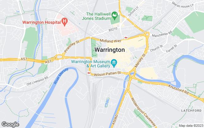 Map for Easylet Residential Ltd, Warrington