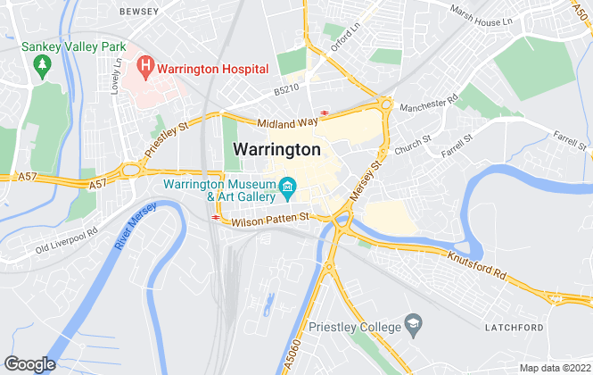 Map for Fastmove Lettings, Warrington
