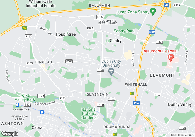 Map for 4 Clonmel Road, Glasnevin,   Dublin 11
