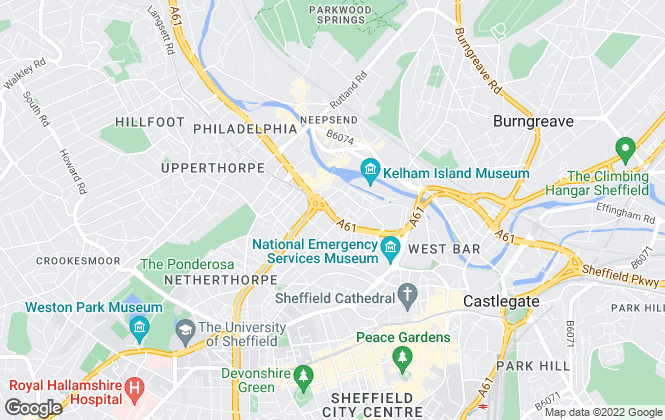Map for Intus Lettings, Sheffield