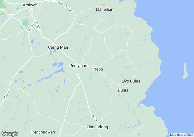 Map for Penysarn, Anglesey