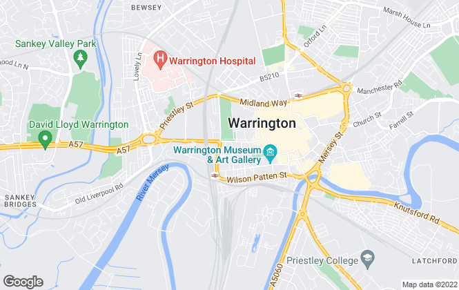 Map for Northwood, Warrington