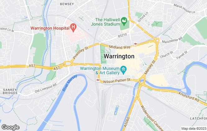 Map for Northwood, Warrington