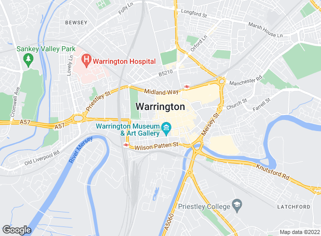 Map for Home Estate Agents, Warrington