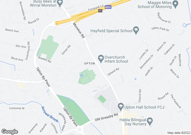 Map for Moreton Road, Upton, Wirral