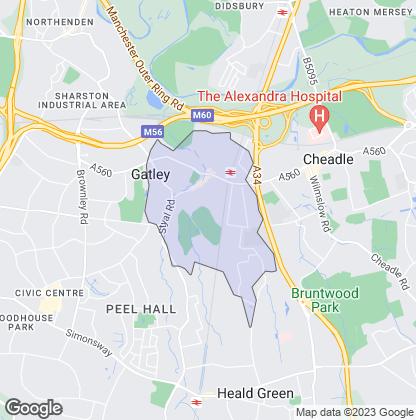 Map of property in Gatley Green Gatley