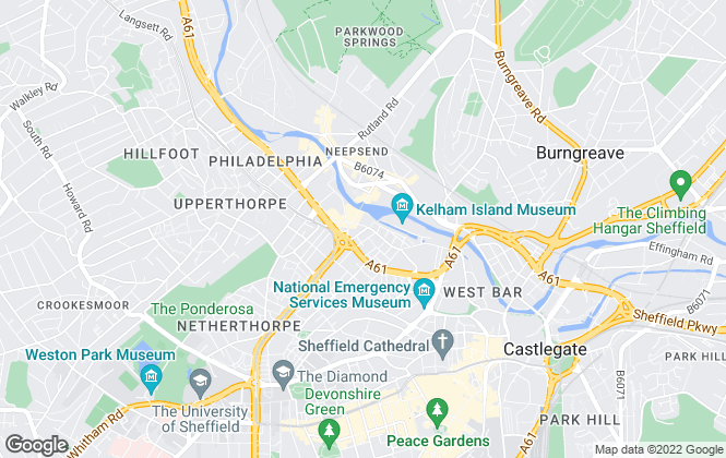 Map for Cactus Living, Sheffield