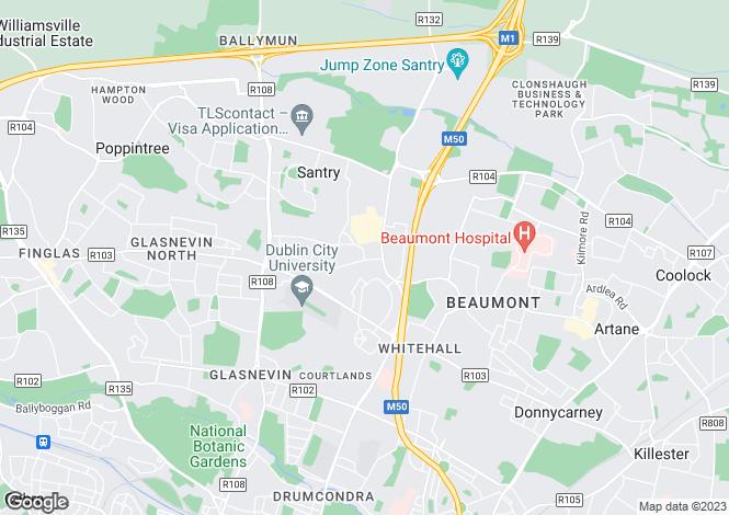 Map for 1 Shanliss Road, Santry,   Dublin 9