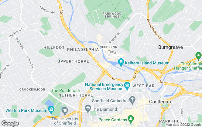 Map for UniHomes, Sheffield